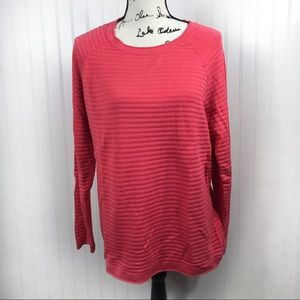 Christopher & Banks Pink/Coral Long Petite Sweater